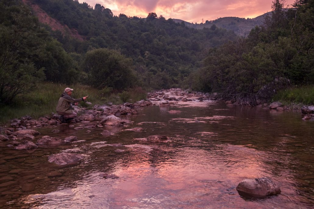 fly fishing the small rivers and streams in Montenegro