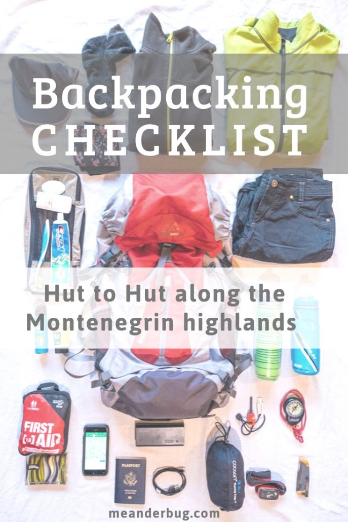 Backpacking Checklist: Hut to Hut Hiking along the Montenegrin Highlands