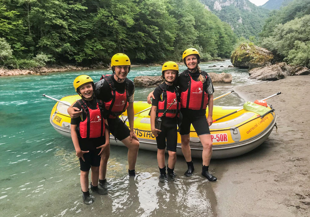 Dutch family adventure holiday with rafting in Montenegro