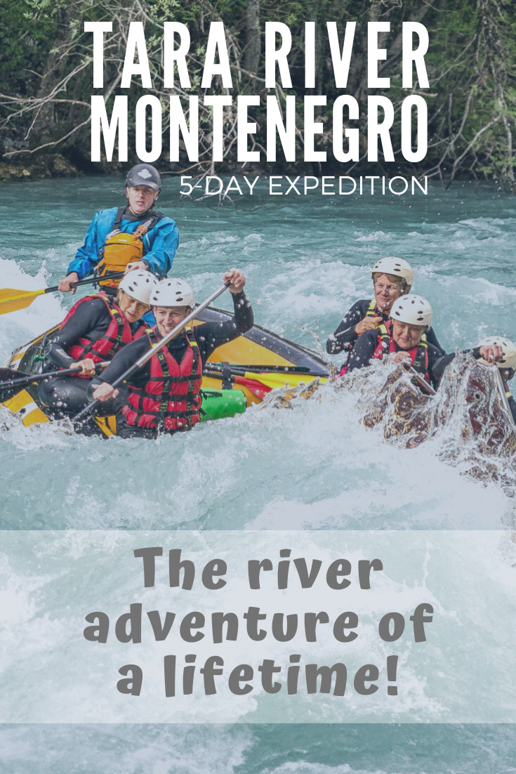 5-day whitewater rafting expedition in montenegro