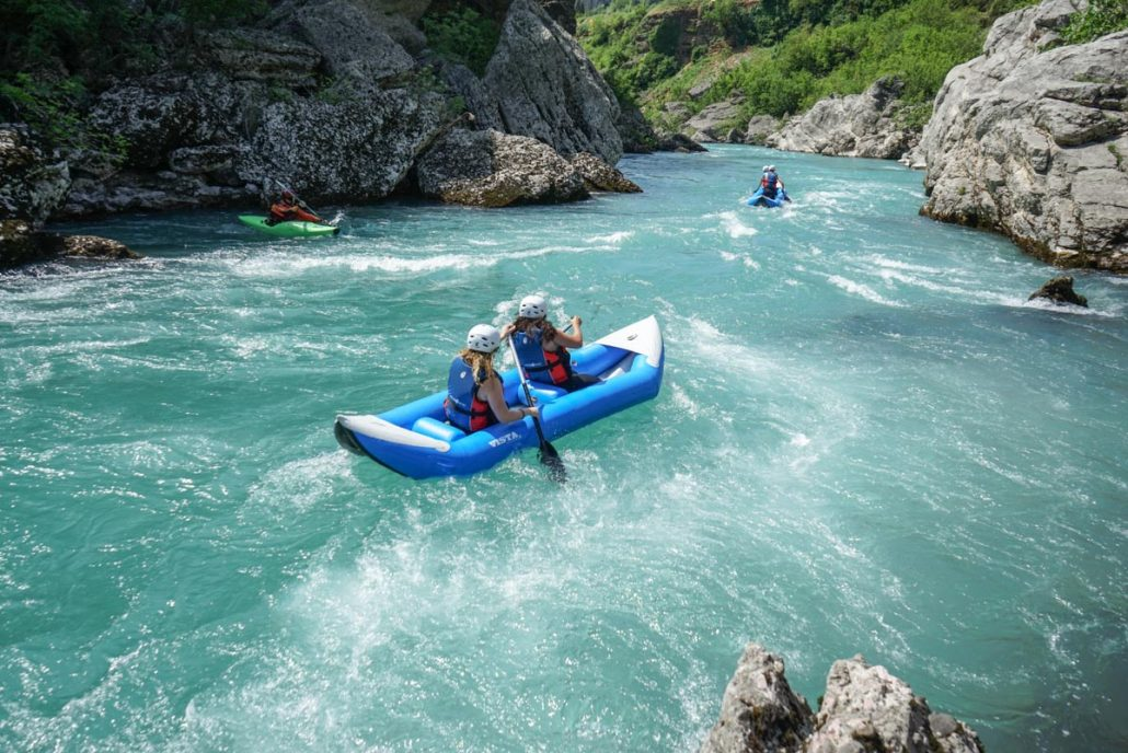 canoe adventure on the Moraca river in Montenegro
