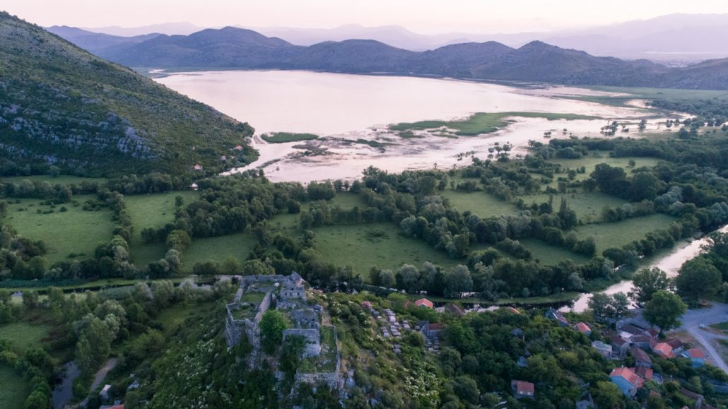 Zabljak Crnojevica Fortress on Skadar Lake
